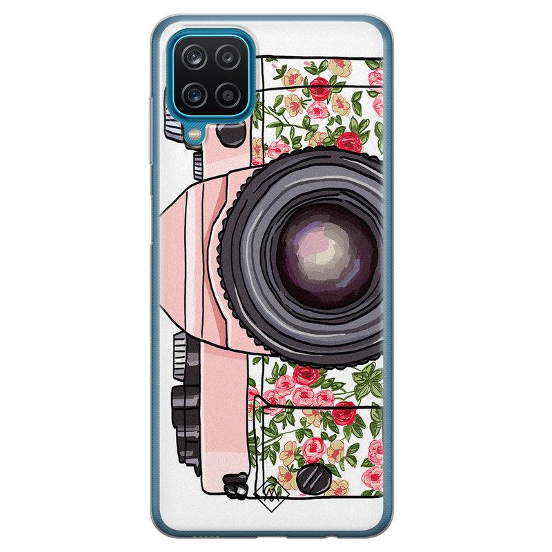 Casimoda Samsung Galaxy A12 siliconen telefoonhoesje - Hippie camera