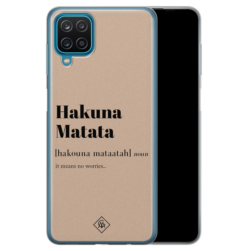 Casimoda Samsung Galaxy A12 siliconen hoesje - Hakuna matata