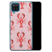 Casimoda Samsung Galaxy A12 siliconen telefoonhoesje - Lobster all the way