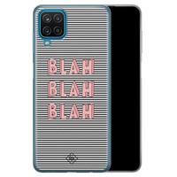 Casimoda Samsung Galaxy A12 siliconen telefoonhoesje - Blah blah blah