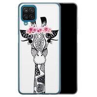 Casimoda Samsung Galaxy A12 siliconen telefoonhoesje - Giraffe