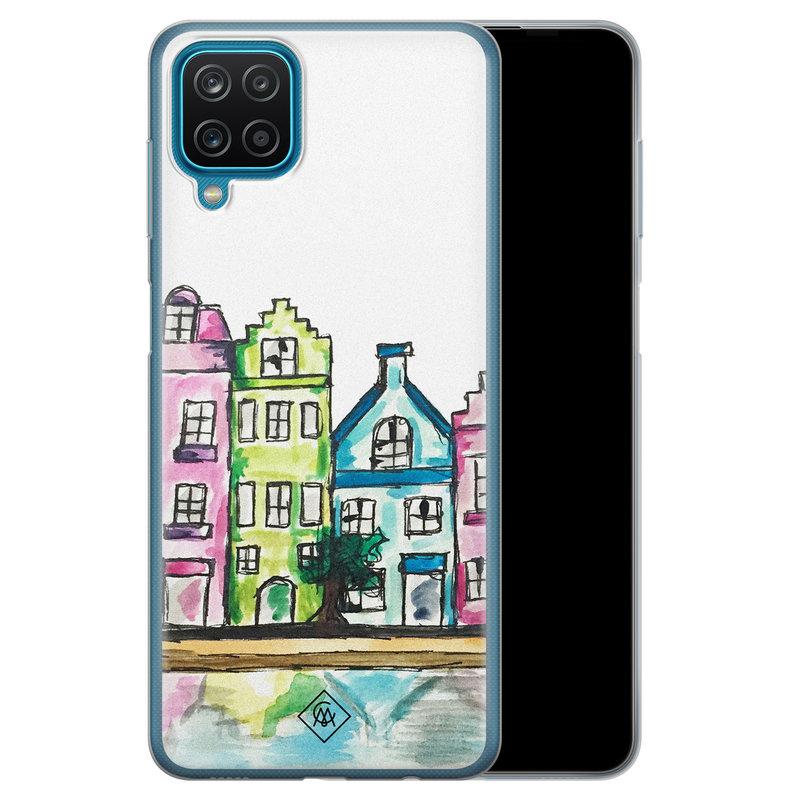 Casimoda Samsung Galaxy A12 siliconen telefoonhoesje - Amsterdam