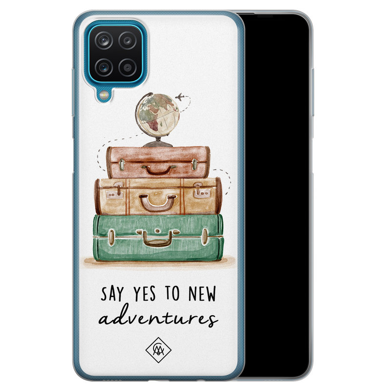 Casimoda Samsung Galaxy A12 siliconen hoesje - Wanderlust