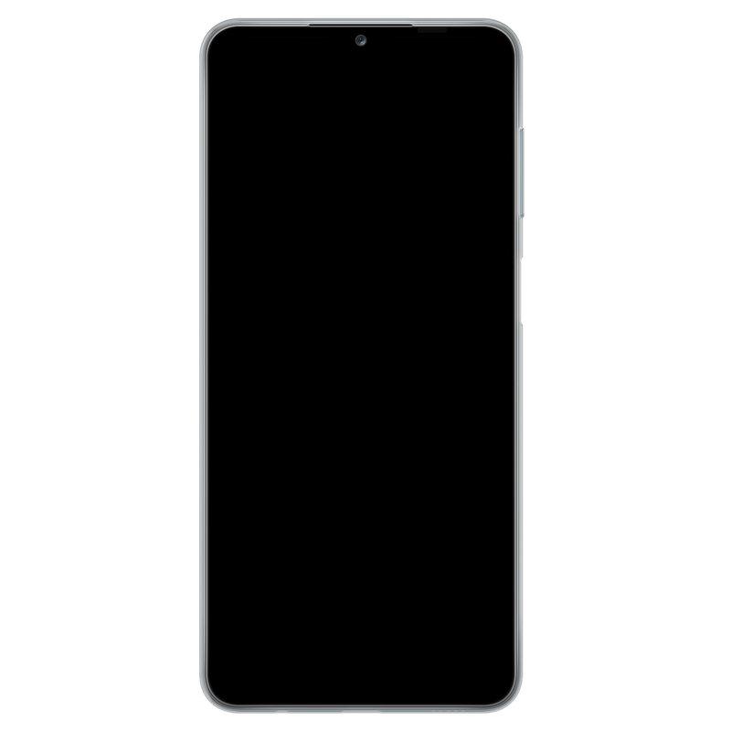 Casimoda Samsung Galaxy A12 siliconen telefoonhoesje - Palm leaves silhouette
