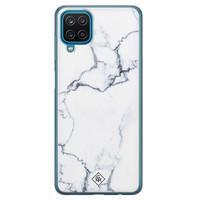 Casimoda Samsung Galaxy A12 siliconen hoesje - Marmer grijs