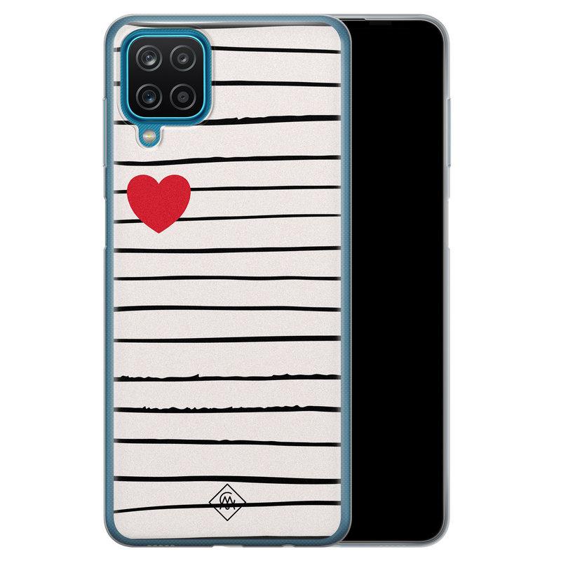 Casimoda Samsung Galaxy A12 siliconen hoesje - Heart queen