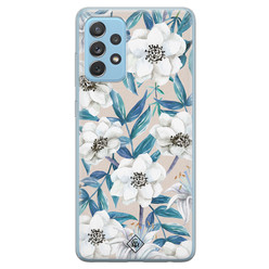 Casimoda Samsung Galaxy A52 (5G) siliconen hoesje - Touch of flowers