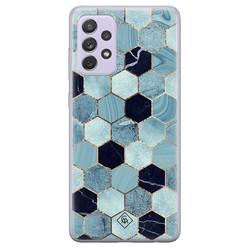 Casimoda Samsung Galaxy A72 siliconen hoesje - Blue cubes
