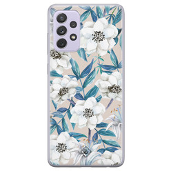 Casimoda Samsung Galaxy A72 siliconen hoesje - Touch of flowers