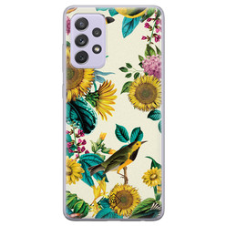 Casimoda Samsung Galaxy A72 siliconen hoesje - Sunflowers