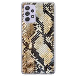 Casimoda Samsung Galaxy A72 siliconen hoesje - Golden snake