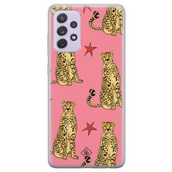 Casimoda Samsung Galaxy A72 siliconen hoesje - The pink leopard