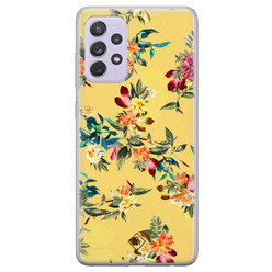 Casimoda Samsung Galaxy A72 siliconen hoesje - Floral days