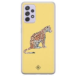 Casimoda Samsung Galaxy A72 siliconen hoesje - Leo wild