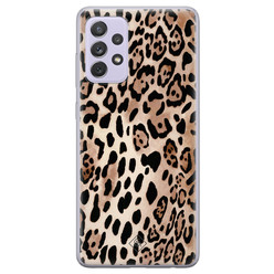 Casimoda Samsung Galaxy A72 siliconen hoesje - Golden wildcat