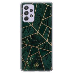 Casimoda Samsung Galaxy A72 siliconen hoesje - Abstract groen