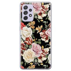Casimoda Samsung Galaxy A72 siliconen hoesje - Flowerpower