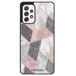 Casimoda Samsung Galaxy A52 hoesje - Stone grid