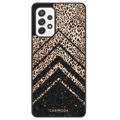 Casimoda Samsung Galaxy A52 hoesje - Chevron luipaard