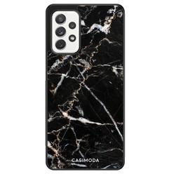 Casimoda Samsung Galaxy A52 hoesje - Marmer zwart