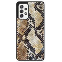 Casimoda Samsung Galaxy A72 hoesje - Golden snake