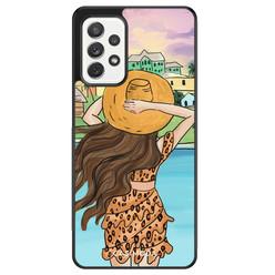 Casimoda Samsung Galaxy A72 hoesje - Sunset girl