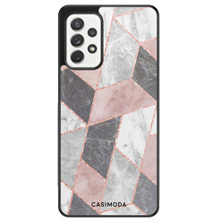 Casimoda Samsung Galaxy A72 hoesje - Stone grid