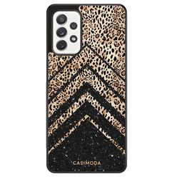 Casimoda Samsung Galaxy A72 hoesje - Chevron luipaard