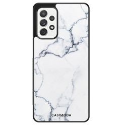 Casimoda Samsung Galaxy A72 hoesje - Marmer grijs