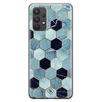 Casimoda Samsung Galaxy A32 4G siliconen hoesje - Blue cubes