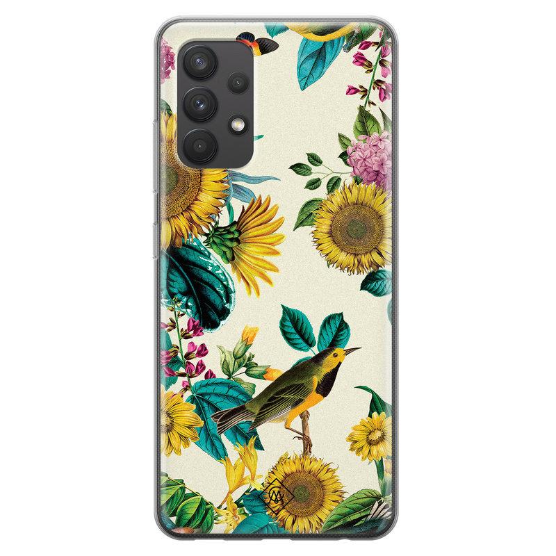 Casimoda Samsung Galaxy A32 4G siliconen hoesje - Sunflowers