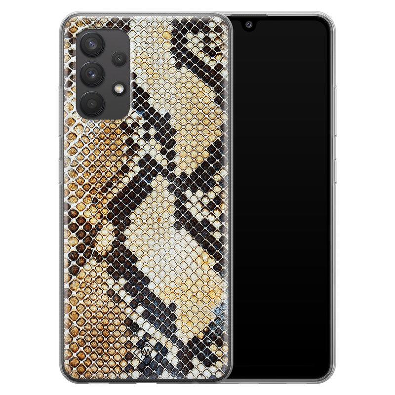 Casimoda Samsung Galaxy A32 4G siliconen hoesje - Golden snake