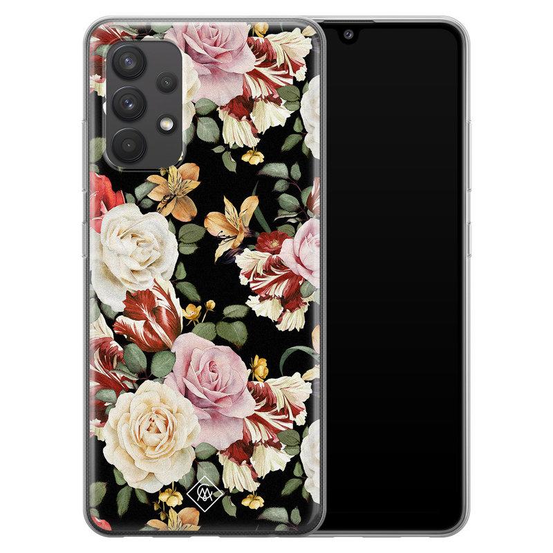 Casimoda Samsung Galaxy A32 4G siliconen hoesje - Flowerpower