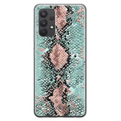 Casimoda Samsung Galaxy A32 4G siliconen hoesje - Snake pastel