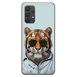 Casimoda Samsung Galaxy A32 4G siliconen hoesje - Tijger wild