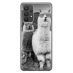 Casimoda Samsung Galaxy A32 4G siliconen hoesje - Llama hipster