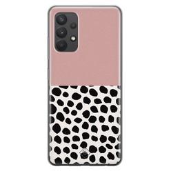 Casimoda Samsung Galaxy A32 4G siliconen hoesje - Pink dots
