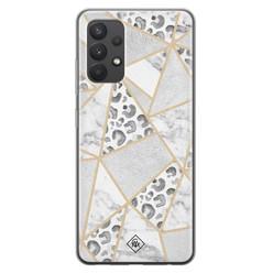 Casimoda Samsung Galaxy A32 4G siliconen hoesje - Stone & leopard print