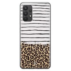 Casimoda Samsung Galaxy A32 4G siliconen hoesje - Leopard lines