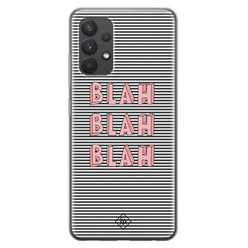 Casimoda Samsung Galaxy A32 4G siliconen hoesje - Blah blah blah