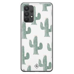 Casimoda Samsung Galaxy A32 4G siliconen hoesje - Cactus print