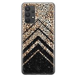 Casimoda Samsung Galaxy A32 4G siliconen hoesje - Chevron luipaard