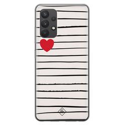 Casimoda Samsung Galaxy A32 4G siliconen hoesje - Heart queen