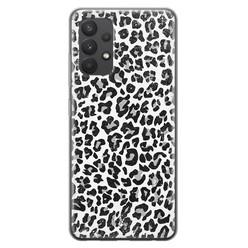 Casimoda Samsung Galaxy A32 4G siliconen hoesje - Luipaard grijs