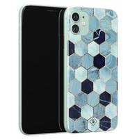 Casimoda iPhone 11 siliconen hoesje - Blue cubes