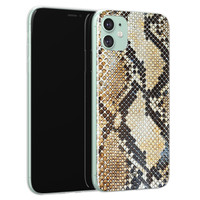 Casimoda iPhone 11 siliconen hoesje - Golden snake
