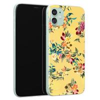 Casimoda iPhone 11 siliconen hoesje - Floral days