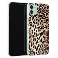 Casimoda iPhone 11 siliconen hoesje - Golden wildcat