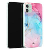 Casimoda iPhone 11 siliconen hoesje - Marble colorbomb