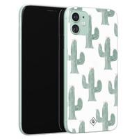 Casimoda iPhone 11 siliconen telefoonhoesje - Cactus print